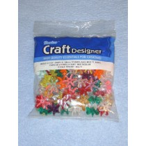 Multi Starflake Beads 18mm 100 pcs