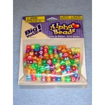 Multi Trans Alpha Beads 7mm Cube 160 pcs