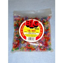 Multi Trans Pony Beads 9mm 1 lb