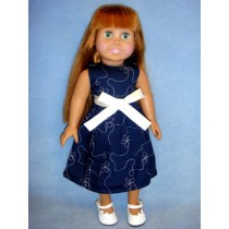 "Navy Party Dress for 18"" Doll"