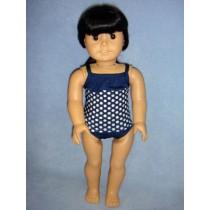 "|Navy Polka Dot Tankini for 18"" Dolls"