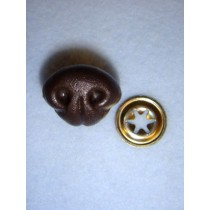 Nose - Bear - 15mm Brown Pkg_10