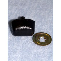 Nose - Leather-Look Oval - 25mm Black Pkg_50