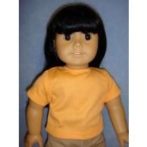 "Orange 'Design Your Own' T-Shirt for 18"" Dolls"