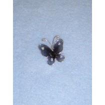 """Organza Butterflies - 1"""" Black Pkg_12"""