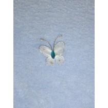 """Organza Butterflies - 1"""" Light Blue Pkg_12"""