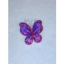 """Organza Butterflies - 2"""" Purple Pkg_12"""