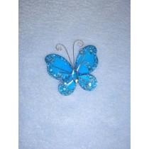 "Organza Butterflies - 2"" Turquoise Pkg_12"