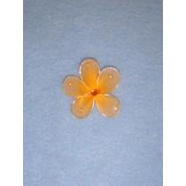 """Organza Flowers - 1 3_8"""" Orange Pkg_12"""
