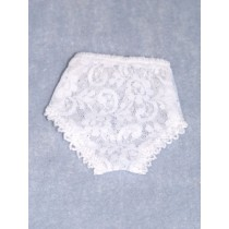 "Panties - Lace - 5 1_4"" White (Size 2)"