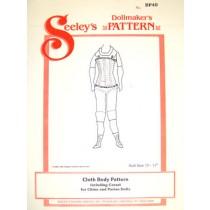 "Pattern - China Doll Cloth Body - 17"" Doll"