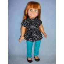 "|Peplum Top & Pants for 18"" Dolls"