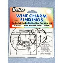 Pewter Wine Charm Finding - Pkg_5