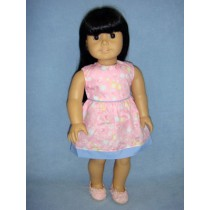 "Pink Bubble Dress - 18"" Doll"