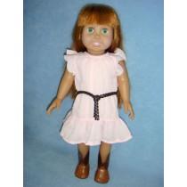 "|Pink Dress w_Brown Belt for 18"" Dolls"