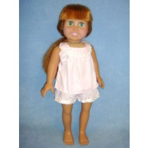 "Pink Pajamas for 18"" Doll"
