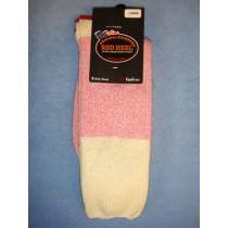 Pink Red Heel Socks (Large) Pkg_4 Socks