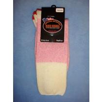 Pink Red Heel Socks (Medium) Pkg_4 Socks