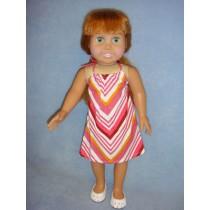 |Pink Stripe Halter Dress