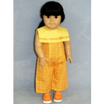 "Polka Dot Jumpsuit - 18"" Doll"