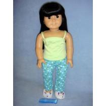 "|Polka Dot Pajamas & Slippers for 18"" Dolls"