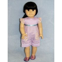 """Purple Blue Shorts Outfit - 18"""" Doll"""
