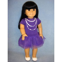 "Purple Casual Dress for 18"" Doll"