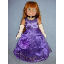 "Purple Dress, Gloves & Shoes for 18"" Dolls"