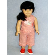 """Red Daisy Outfit - 18"""" Doll"""