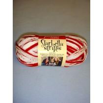 Red & White Starbella Stripes Yarn