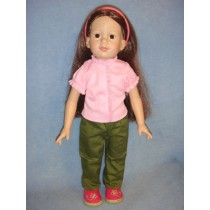 "|Ruffled Top & Pants - 18"" Dolls"