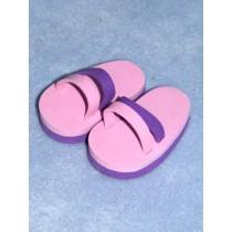 "Sandal - Beach - 3"" Pink_Lavender"
