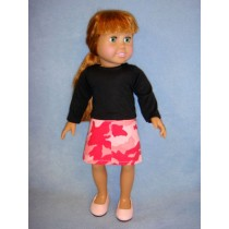 "|Shirt & Camo Skirt for 18"" Doll"