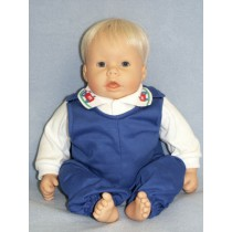 "Shirt w_Tractor Collar & Overall - 19""-22"" Doll"