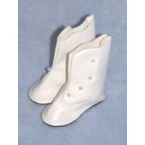"Shoe - High Button - 3 1_2"" White"