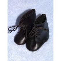 """Shoe - Lace-Up Boots - 3"""" Black"""