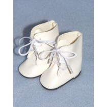 "Shoe - Lace-Up Boots - 3"" White"