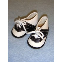 """Shoe - Saddle - 3 1_4"""" Black_White"""