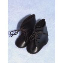 """Shoe - Tie Boot - 3 1_2"""" Black"""