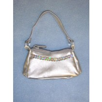 "Silver Purse for 18"" Doll"
