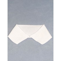 Solid White Knit Collar