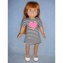 "Striped Dress for 18"" Dolls"