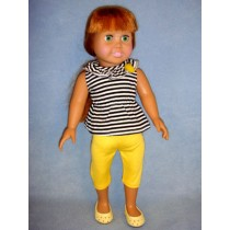 "|Striped Tank w_Yellow Leggings for 18"" Doll"
