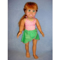 "Swimsuit & Sarong for 18"" Doll"