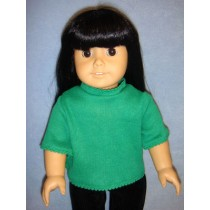 """T-Shirt for 18"""" Doll - Kelly Green"""