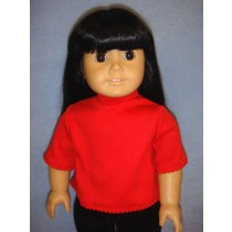 """T-Shirt for 18"""" Doll - Red"""