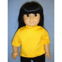 """T-Shirt for 18"""" Doll - Yellow"""