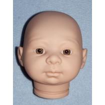 Tina Doll Head w_Hazel Eyes - Unpainted