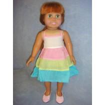 |Tri-Color Halter Dress