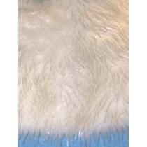 White Feather Fur Fabric